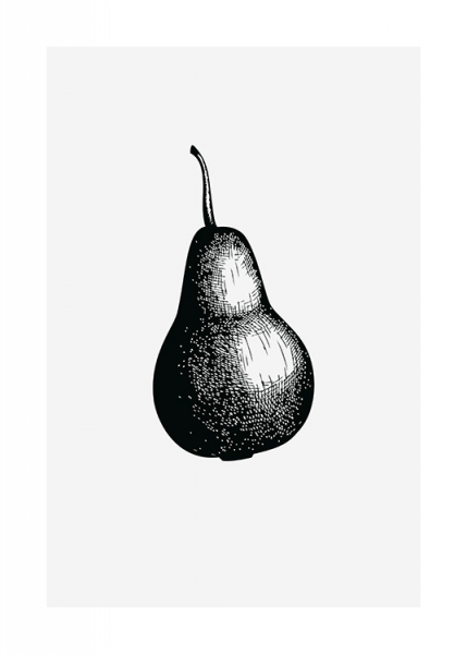 Pear Sketch Poster in the group Posters & Prints / Black & white at Desenio AB (13269)