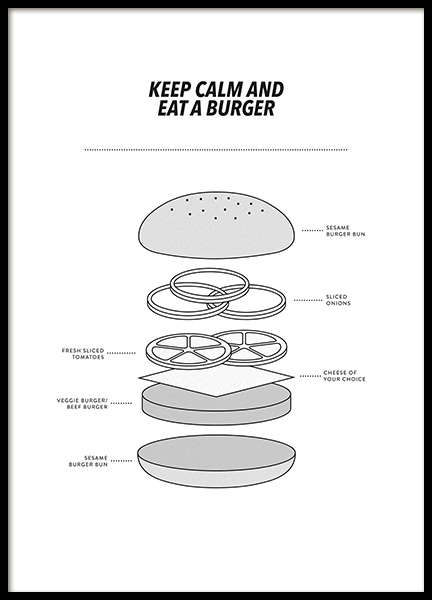 Eat a Burger Poster in the group Posters & Prints / Kitchen at Desenio AB (13273)