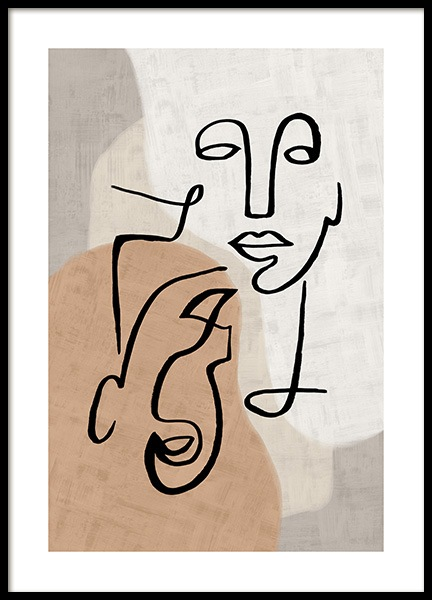 Abstract Line Art No3 Poster in the group Posters & Prints / Art prints at Desenio AB (13280)