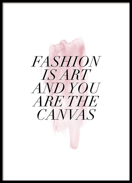 Fashion is Art Poster in the group Posters & Prints / Text posters at Desenio AB (13300)