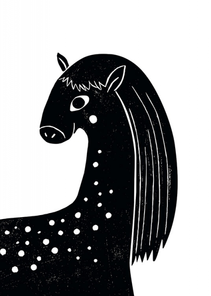 Graphic Horse Poster in the group Posters & Prints / Kids posters at Desenio AB (13312)