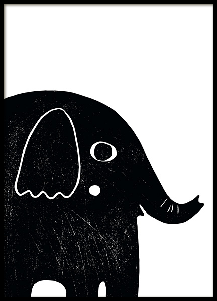 Graphic Elephant Poster in the group Posters & Prints / Kids posters at Desenio AB (13313)