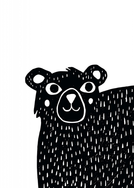Graphic Bear Poster in the group Posters & Prints / Kids posters at Desenio AB (13314)