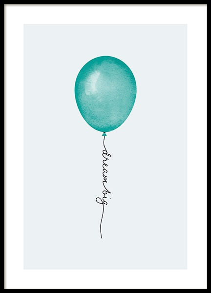 Dream Big Balloon Poster in the group Posters & Prints / Kids posters at Desenio AB (13320)
