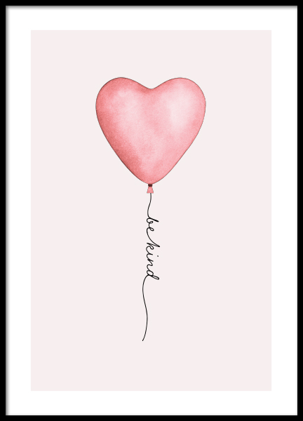 Be Kind Balloon Poster in the group Posters & Prints / Kids posters at Desenio AB (13321)