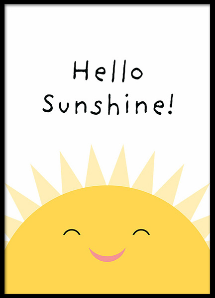 Hello Sunshine (30x40) in the group Posters & Prints / Kids posters at Desenio AB (13324-5)