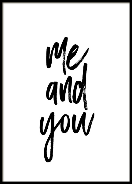 Me and You No1 Poster in the group Posters & Prints / Typography & quotes at Desenio AB (13334)