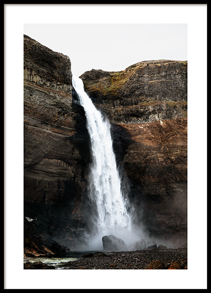 Haifoss Waterfall Poster in the group Posters & Prints / Nature at Desenio AB (13353)