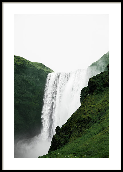 Skogafoss View Poster in the group Posters & Prints / Nature at Desenio AB (13355)