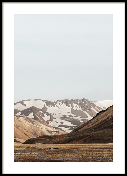 Iceland Mountains Poster in the group Posters & Prints / Nature at Desenio AB (13367)