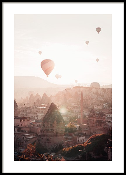 Air Balloons in Cappadocia Poster in the group Posters & Prints / Maps & cities / European cities at Desenio AB (13385)