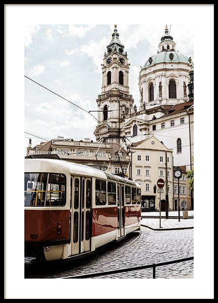 Tram in Prague Poster in the group  at Desenio AB (13390)