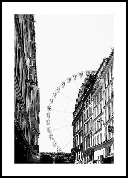 Paris Ferris Wheel Poster in the group Posters & Prints / Maps & cities / European cities / Paris posters at Desenio AB (13396)