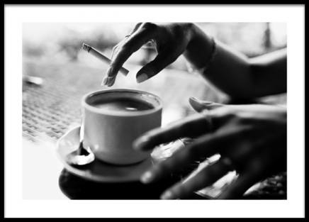 Coffee and Cigarette Poster in the group Posters & Prints / Photography / Black & white photography at Desenio AB (13399)