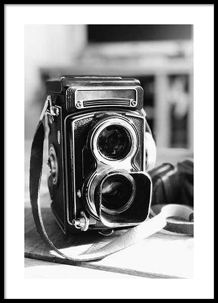 Old Style Camera Poster