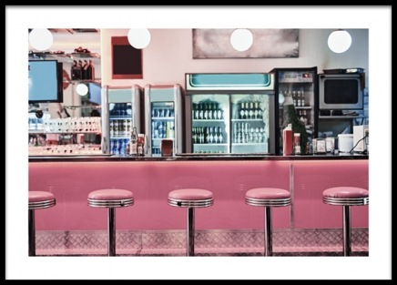 Retro Diner Poster in the group Posters & Prints / Vintage at Desenio AB (13403)