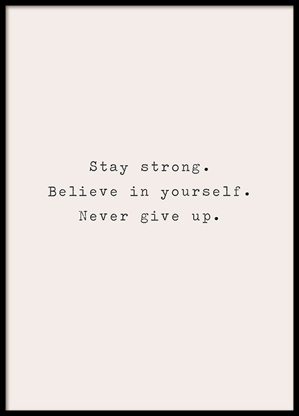 Stay Strong Poster in the group Posters & Prints / Text posters / Motivational at Desenio AB (13467)