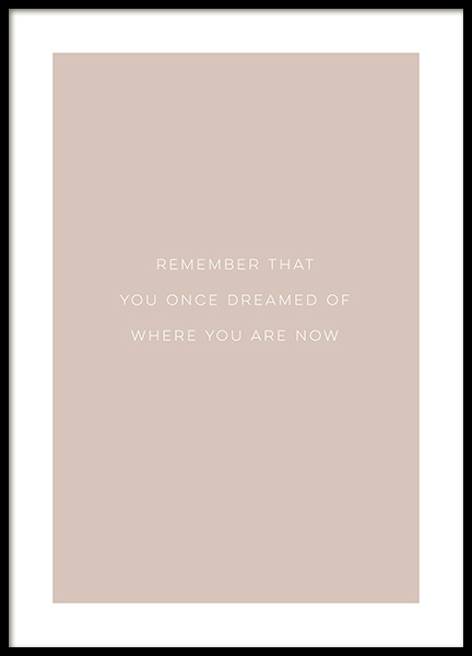 Remember Poster in the group Posters & Prints / Text posters / Motivational at Desenio AB (13471)
