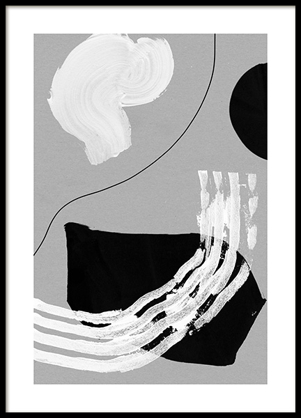 Stroke Shapes Poster in the group Posters & Prints / Art prints at Desenio AB (13485)