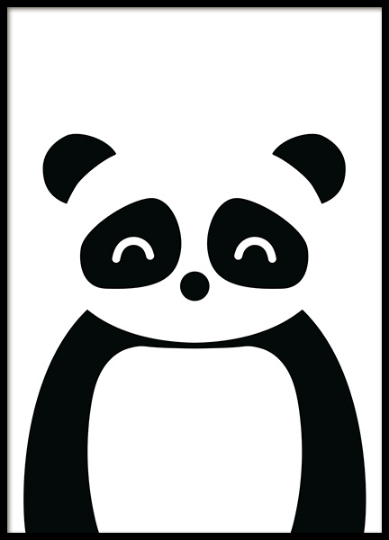 Geometric Panda Poster in the group Posters & Prints / Kids posters / Animal illustrations at Desenio AB (13508)