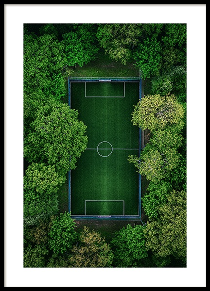 Green Soccer Pitch Poster in the group Posters & Prints / Photography at Desenio AB (13533)
