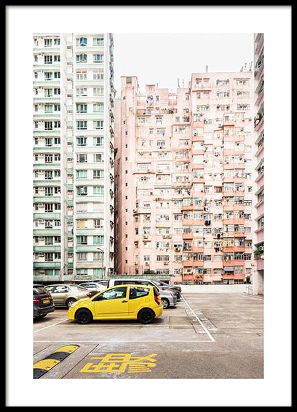 Hong Kong Pastel Poster
