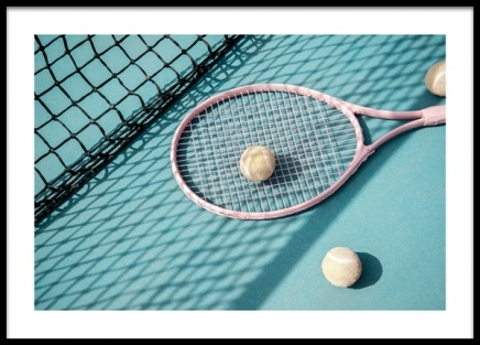Turquoise Tennis Court Poster