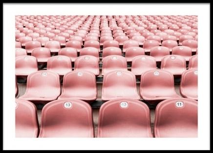 Pink Seats Poster