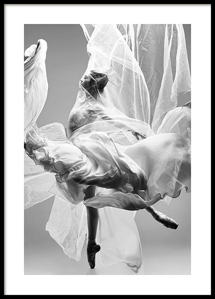 Graceful Ballerina Poster