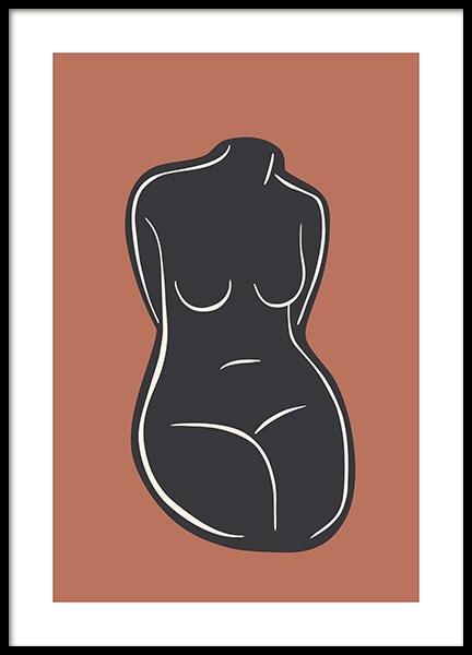 Bare Figure No4 Poster