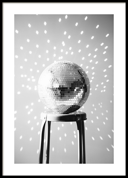 Disco Ball Poster in the group Posters & Prints / Photography / Black & white photography at Desenio AB (13629)