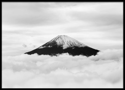 Snow Capped Mt. Fuji Poster in the group Posters & Prints / Nature / Mountains at Desenio AB (13636)