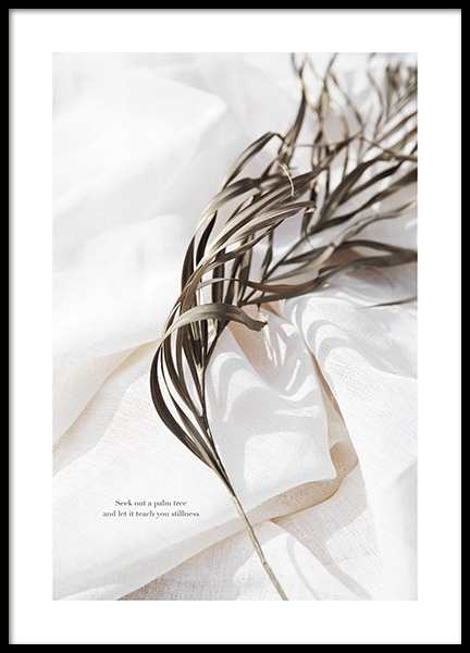 Delicate Palm Leaves No2 Poster in the group  at Desenio AB (13650)