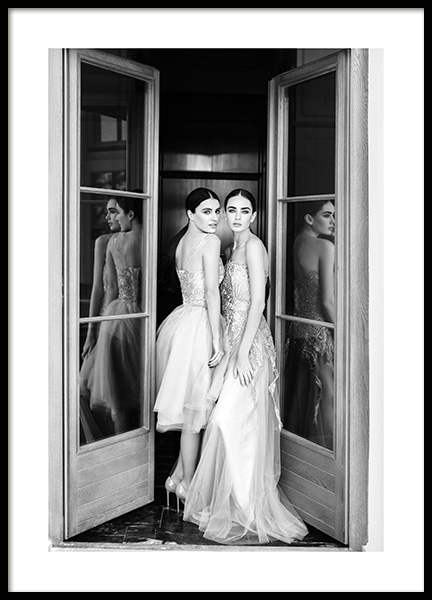 Wearing Dresses Poster in the group Posters & Prints / Photography / Black & white photography at Desenio AB (13709)