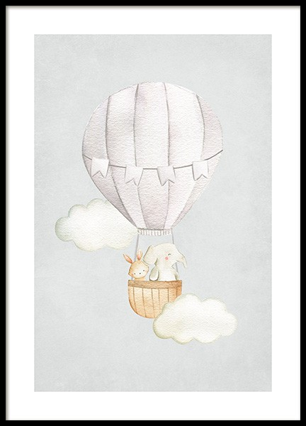 Hot Air Balloon No1 Poster in the group  at Desenio AB (13715)