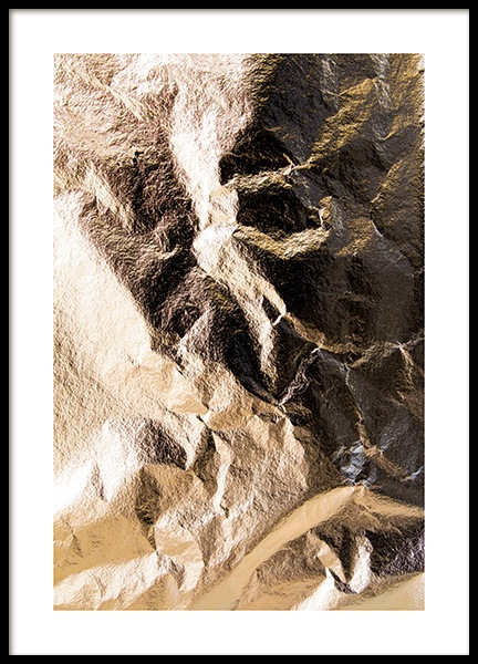 Crumpled Gold Leaf Poster in the group Posters & Prints / Photography at Desenio AB (13770)