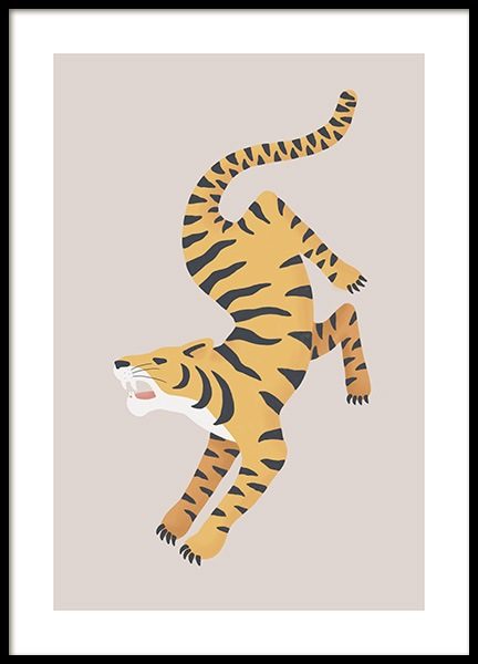 Turning Tiger Poster in the group Posters & Prints / Insects & animals at Desenio AB (13782)