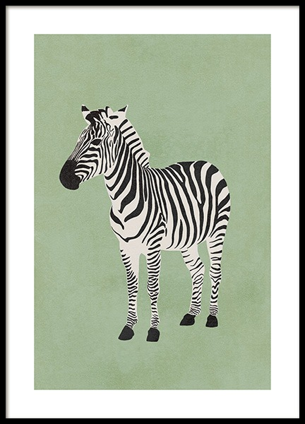 Graphic Zebra Poster in the group Posters & Prints / Insects & animals at Desenio AB (13785)