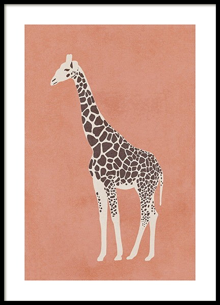 Graphic Giraffe Poster in the group Posters & Prints / Insects & animals at Desenio AB (13786)