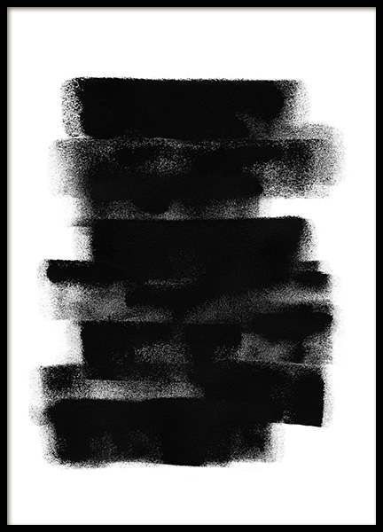 Paint it Black No2 Poster in the group Posters & Prints / Art prints / Abstract wall art at Desenio AB (13816)
