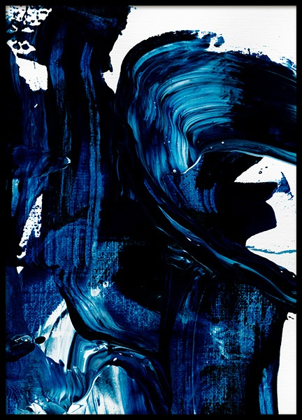 Blue Painting No1 Poster in the group Posters & Prints / Art prints / Abstract wall art at Desenio AB (13841)