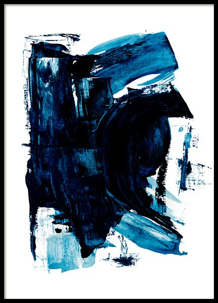 Blue Painting No2 Poster in the group Posters & Prints / Art prints / Abstract art at Desenio AB (13842)
