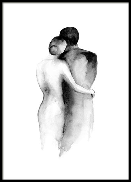 Watercolor Embrace Poster in the group Posters & Prints / Art prints / Watercolor paintings at Desenio AB (13852)