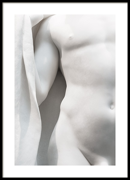 White Statue No2 Poster in the group Posters & Prints / Photography / Black & white photography at Desenio AB (13878)