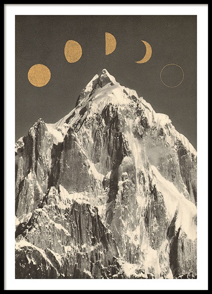 Moon Phases Poster in the group Posters & Prints / Vintage at Desenio AB (13921)