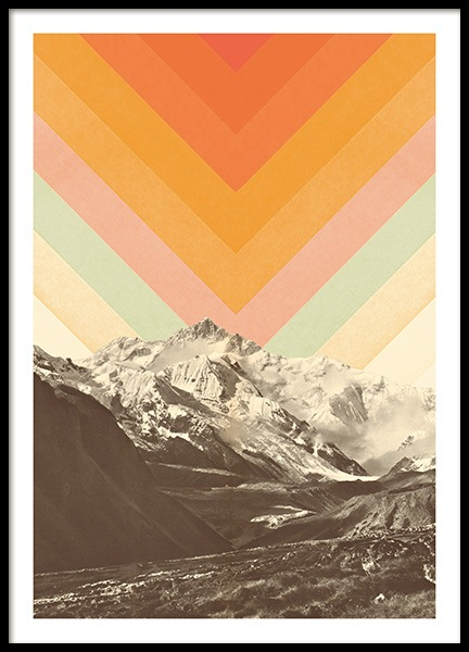 Mountainscape No1 Poster in the group Posters & Prints / Vintage at Desenio AB (13922)