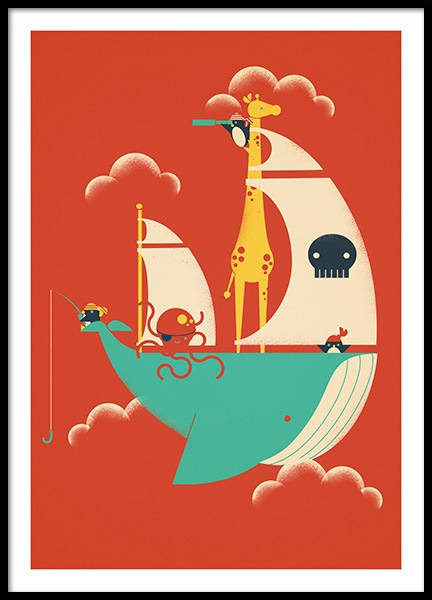 Voyage Poster in the group Posters & Prints / Kids posters / Animal illustrations at Desenio AB (13933)