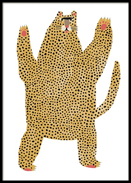 Cheetah Pal Poster in the group Posters & Prints / Kids posters / Animal illustrations at Desenio AB (13941)