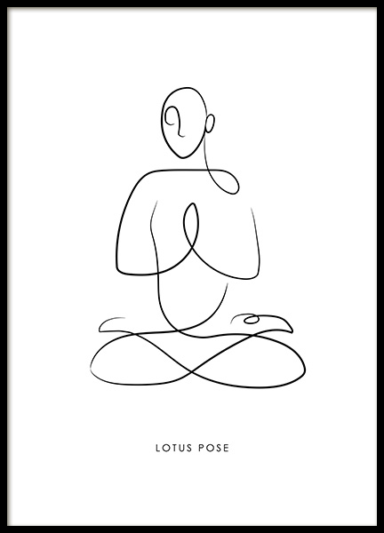 Yoga Pose No4 Poster in the group Posters & Prints / Art prints / Line Art at Desenio AB (13948)