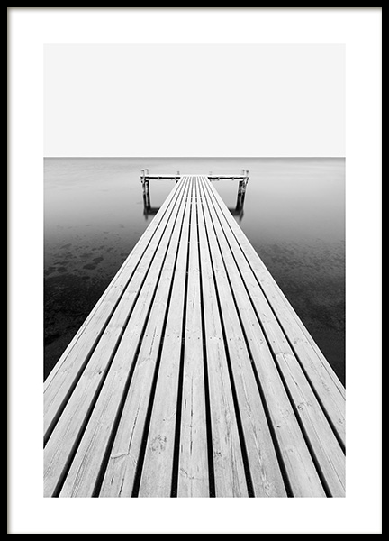 Jetty at Sea Poster in the group Posters & Prints / Photography / Black & white photography at Desenio AB (13960)